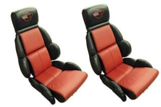 89-90 STD Two-Tone Seat Covers (Leather)