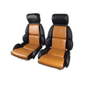 91-92 STD Two-Tone Seat Covers (Leather)