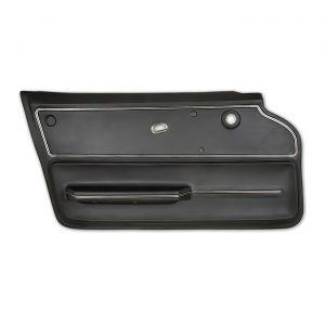 65-66 Cpe Deluxe Door Panel (Includes Trim) in Black