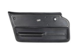 65-66 Conv Deluxe Door Panel (Includes Trim) in Black