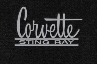63-67 Lloyd Ultimat Floor Mats w/ Corvette Sting Ray Emblem (66-67 Style) (UltimatFlrMtCol_ScriptColor)