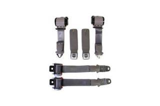 74-75 Conv Seat Belt Set w/Shoulder Harness & Seat Belt Warning (Reproduction)