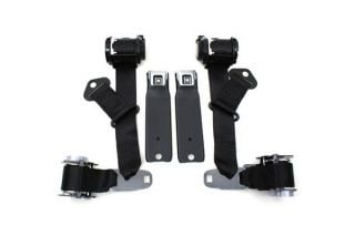 74-77 Coupe Seat Belt w/Shoulder Harness & Seat Belt Warning (Reproduction)