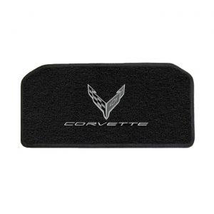20-21 Lloyd Ultimat Front Storage Compartment Mat w/C8 Emblem & Corvette Script (Monochromatic)