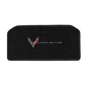 20-21 Lloyd Ultimat Front Storage Compartment Mat w/C8 Emblem & Corvette Script Combo (Silver Outline)