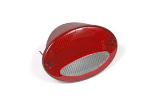 1997-2004 Corvette Red/Clear Euro Tail Light