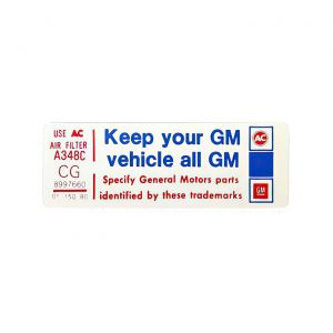 1980 Corvette Keep Your GM Vehicle... Decal