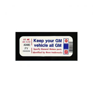 1981 Corvette Keep Your GM Vehicle... Decal