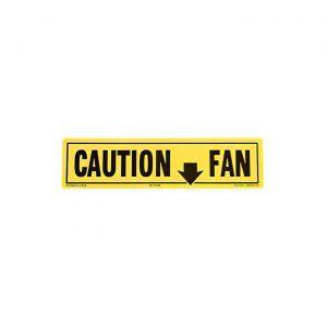 1980-1982 Corvette Fan Shroud Caution Decal