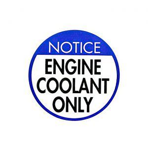 1977L-1982 Corvette Coolant Recovery Tank Cap Decal