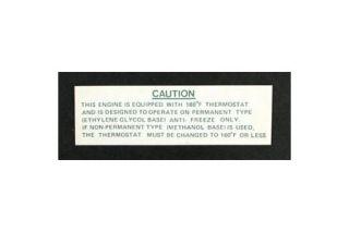1963 Corvette Expansion Tank Caution Decal