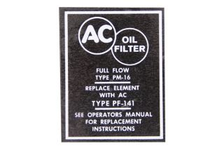 58-67 Oil Filter Canister White Decal