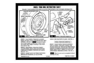 1967-1972 Corvette Wheel Trim Instructions