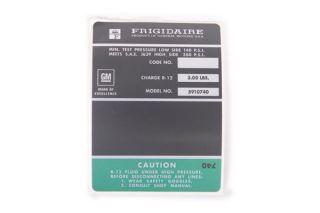 69-71 427/454 AC Compressor Frigidaire Decal