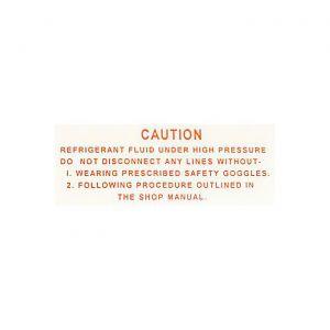 1963-1965 Corvette AC Compressor Warning