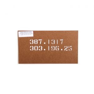 66 Chassis Part Number Stencil