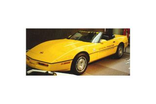 """1986 Corvette Pace Car Decal Set (Gold """"OPC"""" w/Gold 70Th)"""