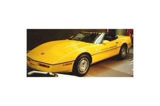 "1986 Corvette Pace Car Decal Set (Silver ""OPC"" w/Black 70Th)"