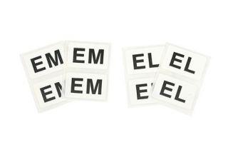 """1963-1979 Corvette Shock Absorber Decals - """"EM & EL"""""""