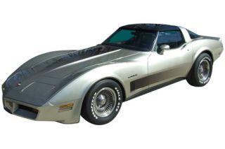 1982 Corvette Collector Edition Decal Set - Hood & Door Fade Decal Only