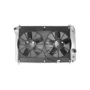 90-96 SPAL Dual 11in Electric Fan Upgrade w/Shroud (Double Row Radiator)