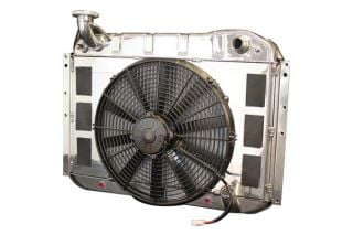 55-60 w/Auto LS Conversion Direct Fit Aluminum Radiator & Fan Combo