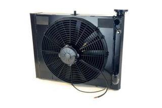 61-62 w/Auto LS Conversion Direct Fit Aluminum Radiator & Fan Combo
