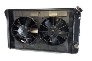 66-68 427 w/4-spd & 68 327 w/AC LS Conversion Direct Fit Aluminum Radiator & Fan