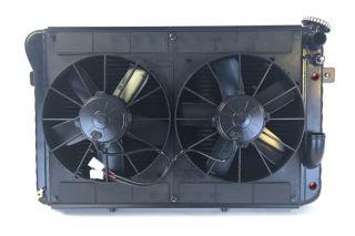 66-67 327 w/Auto LS Conversion Direct Fit Aluminum Radiator & Fan Combo