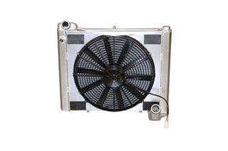61-62 Direct Fit Aluminum Radiator & Fan Combo