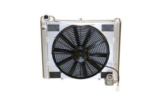 61-62 Direct Fit Aluminum Radiator & Fan Combo w/Auto Cooler