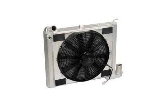 63-67 327 & 68-72 350 4-spd w/o AC Direct Fit Aluminum Radiator & Fan Combo