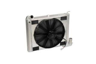 63-67 327 & 68-72 350 4-spd w/o AC Direct Fit Aluminum Radiator & Fan Combo w/Auto Trans Cooler