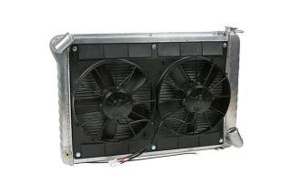 66-68 427 w/4-spd & 68 327 w/AC Direct Fit Aluminum Radiator & Fan Combo