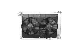 66-68 427 w/Auto & 68 327 w/Auto Direct Fit Aluminum Radiator & Fan Combo