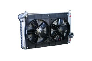 63-65 327 w/Auto Conversion Direct Fit Aluminum Radiator & Fan Combo