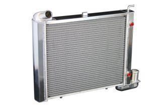 63-67 & 68-72 350 4-spd w/o AC Direct Fit Aluminum Radiator w/Auto Trans Cooler