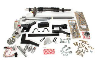1958-1962 Corvette Steeroids Rack & Pinion Kit - Power (Black Column)