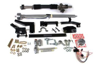 1958-1962 Corvette Steeroids Rack & Pinion Kit - Manual (Black Column)