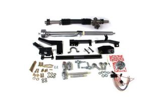 58-62 w/Headers Steeroids Rack & Pinion Kit - Manual (Black Column)