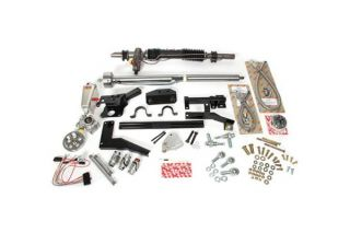 58-62 w/Headers Steeroids Rack & Pinion Kit - Power (Black Column)