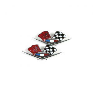 1962-1963E Corvette Side Crossflags (Correct)