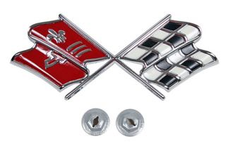1967 Corvette Nose Emblem (Dark Red)