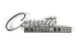 """1963-1965 Corvette Rear Script """"Corvette"""" (Reproduction)"""