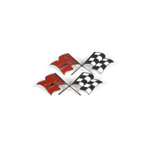 1957 Corvette Fuel Injection Side Cross Flags