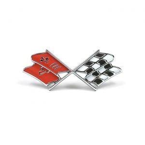 1967 Corvette Nose Emblem (Orange Red)