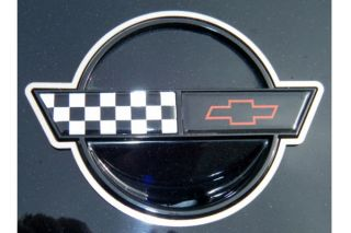 84-96 Front & Rear Emblem Stainless Rings