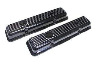 78-82 Aluminum Valve Covers - Black (Default)
