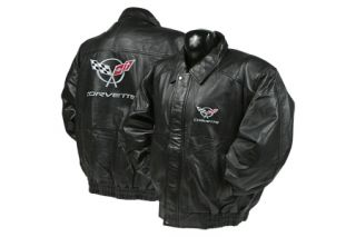 Corvette Lambskin Bomber Jacket w/C5 Embroidered Emblem