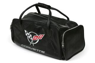 "C5 Corvette Embroidered Leather 24"" Duffel Bag"